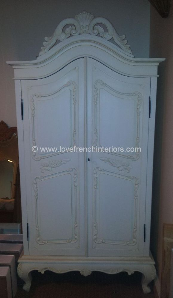 Louis Bespoke French Armoire Wardrobe no drawer
